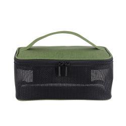 * Artigos de malha personalizado saco cosméticos Viagens pequenas mulheres Organizador Makeup Bag compõem caso a armazenagem de beleza