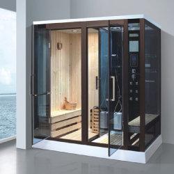 Bestes Preis-rote Zeder-hölzernes Hauptbad computergesteuerter Badezimmer-Nassdampf-Dusche-Gehäuse-Kabine kombinierter trockener Sauna-Raum