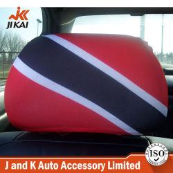 A tampa de apoio-de logotipo Bandeira Impresso Cadeira personalizada de tampas de cabeça para carros