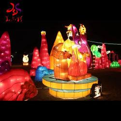 2020 Huayicai освещение рождественские украшения Санта-дисплей открытый фестиваль шелковые ткани китайских фонари фонари