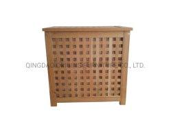 D1033 bois durables des vêtements sales Trieuse boîte noyer Panier blanchisserie