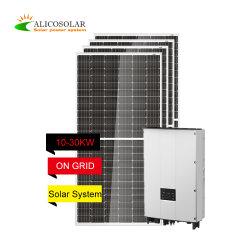 2396 Alicosolar eenvoudig 10kw installeren op Grid Solar System 10kVA Zonnepanelen met CE/TUV/ISO voor thuisgebruik