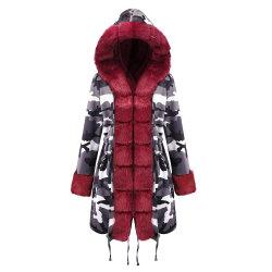 2019 cappotto di inverno del pesce palla del Faux della donna europea ed americana della pelliccia