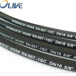 Trenzado de alambre de termoplástico de hidráulica de 10 bares de presión de aceite del tubo flexible de caucho flexible Lista de precios