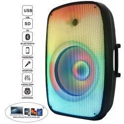 """Audio 300W 15"""" de una llama se enciende el LED ACTIVO PA/DJ sonido Sistema de Caja Fija Bt-Tws Wireless Karaoke Mic--FM-Echo-Battery Bocina parlante"""