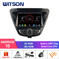 Witson Quad-Core Android 10 coche reproductor de DVD para Hyundai Elantra 2014 Enlace Espejo para Android Mobile+iPhone