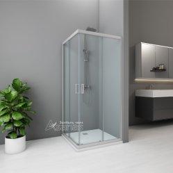 シャワーエンクロージャ / シャワーキャビン / バスルーム用ガラススライドドア : スクエアシャワーエンクロージャ AS3911T-80