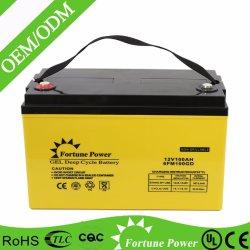 再充電可能な弁はゲルの太陽電池12V100ahを調整した