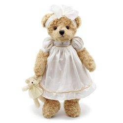 Casamento branco Penteadeira Fancy roupões felpudos recheadas Marcação Teddy Bear