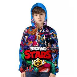 il diverbio del gioco della fucilazione di Hoodies del pullover 3D Stars il fumetto Hoodie della maglietta felpata di stampa dei capretti 3D di serie di combattimento della regione selvaggia incappucciato