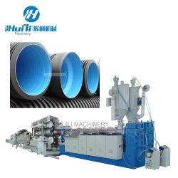 آلات بلاستيكية صينية /PE/PP خط طرد الأنابيب المضلع المزدوج مع أفضل سعر PVC البلاستيك الجدار الواحد أنبوب المضلع آلة