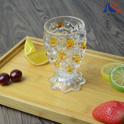 gelbes Glascup 166ml für Nachtisch-Eiscreme-Glas-Fisch-Form