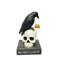 La resina de Halloween Vintage Arte escultura decoración souvenirs figurita de búho con calabaza estatua