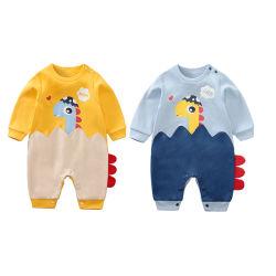 Commerce de gros bébé nouveau né Romper Onesie pour l'automne/printemps dinosaure Pajama Pattern bébé vêtements de mode mignon