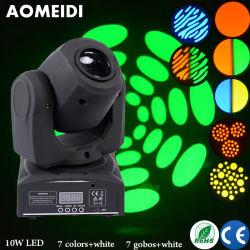 Mini для использования внутри помещений LED Spot перемещение головки освещения сцены DJ-лампа