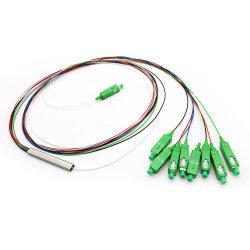 コネクタ G657A2 付きスチールチューブ 1 個光ファイバー PLC スプリッタ