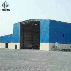 Baixo custo de Estrutura de aço materiais de construção pré Fab Hangar vendas de armazém