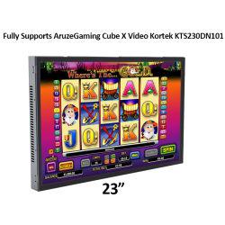 23 인치는 전적으로 Aruzegaming 입방체 x 1080P TFT 도박 기계를 위한 가득 차있는 보기 전시를 가진 영상 Kortek Kts230dn101 열린 구조 접촉 스크린 모니터 LCD를 지지한다