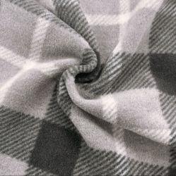 防風性の抗丸薬の暖かい柔らかい家の織物の衣服は冬をライニングする 布製屋外用布地ポリエステルプリントの 100 ポリエステル・プレイドニット素材極 フリース
