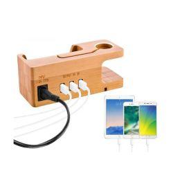 2021 حامل حامل حامل الهاتف الخيزران للكمبيوتر اللوحي والهاتف الذكي وحامل الهاتف المحمول خشبي سطح المكتب شاحن لهاتف iPhone