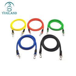 Tubo per esercizi fitness personalizzato Yugland 11 PZ/set bande di resistenza al lattice Allenamento Yoga tubi con corda Carabiner Pull