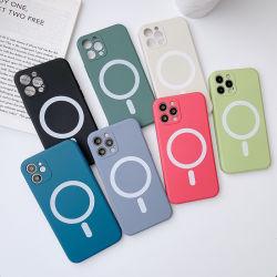 스마트폰 액체 실리콘 충격 방지 마그네틱 폰 케이스 포장(Magsafe) iPhone 11 12 PRO Max의 경우