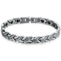 Moda nuovo con magnetico Salute acciaio titanio bracciale Gioielli