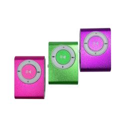 サポートSD TF携帯用小型クリップ金属USBエムピー・スリー音楽メディアプレイヤーReproductorエムピー・スリー