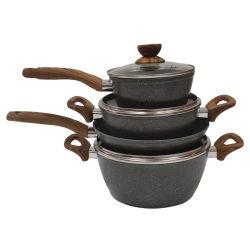 7 STÜCK Granitbeschichtung Kochgeschirr Set