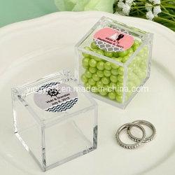 Os doces de chocolate em acrílico transparente de Embalagem com tampa