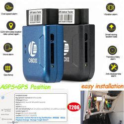 Obdii Rastreador GPS para Carro/Motociclo com alarme de excesso de velocidade T206