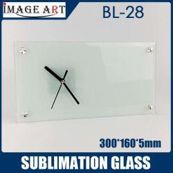 Alta qualità Bl-28 sublimazione rettangolo bianco Orologio Foto cornice AS Regalo di vetro 300*160*5mm