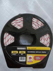 円形の巻き枠のポリエステル8繊維のダイヤモンドの編みこみのロープ