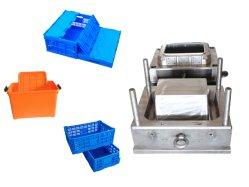 Inyección de plástico personalizadas que se utiliza la caja de moldeo de cuadro de volumen de negocios de moldeo, Plegado circular rotatorio de moldeo por Caso de la caja plegable