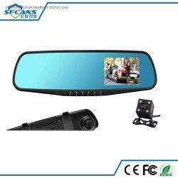 4.3 Auto-Kamerarearview-Spiegel der Zoll-Doppelobjektiv-hinterer Ansicht-DVR voller HD 1080P