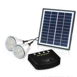Портативный 2 номеров LED лампы зарядки телефона солнечной энергетической системы освещения