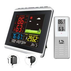 Pantalla a color Weather Station Reloj termómetro higrómetro Exterior Interior