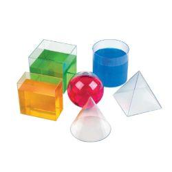 10cm 6pzas 15PCS PCS Tranparent 8 claras de plástico sólido 3D de forma geométrica