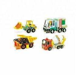 3D DIY Wooden Model Car مجمع الأحجية ، سيارة 3D لغز بانوراما للأطفال ، 3D لغز لعبة بانوراما الألغاز للأطفال