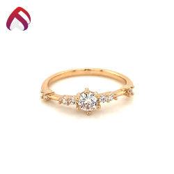 Großhandelssilberner köstlicher Hochzeits-Ring der schmucksache-925 mit natürlichem Stein