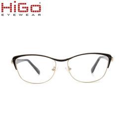 Het nieuwste Frame van het Oogglas van de Acetaat van de Diamant van de Mengeling van Eyewear van het Metaal