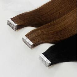 Двойной обращено Реми человеческого волоса добавочный номер ленты волосы шелковистой Омбре цвет волос ленточных накопителей