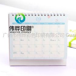 Dom personalizado impressão papel Encadernação em espiral de promoção de turismo Calendário
