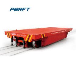 Chariot de manutention motorisés de transfert électrique transporteur sur les chemins de fer