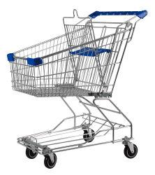 ユーロスタイルの折りたたみ式スーパーマーケットハンドトロリーショッピングカート