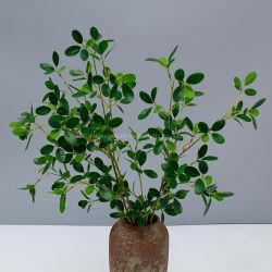 Fogli artificiali di plastica all'ingrosso poco costosi del Ficus per la decorazione della casa di cerimonia nuziale