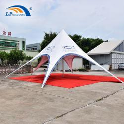 1000D 550g parti tente de PVC résistant aux étoiles Star flamme pour l'extérieur de l'événement de l'ombre tente