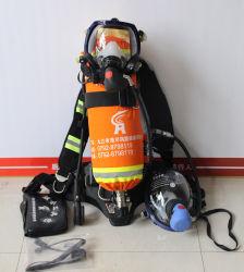 陽圧空気呼吸装置、火災装置