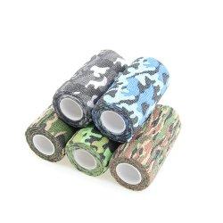 Les fournitures médicales jetables Camouflage Bandage cohésif non tissé auto adhérant Gun Wrap