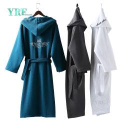 広州フォーシャンの100%年の綿のホテルのワッフルの浴衣の男女兼用の柔らかいワッフルの浴衣